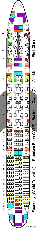 ba 777 seat map airways 777 seat plan 14f version