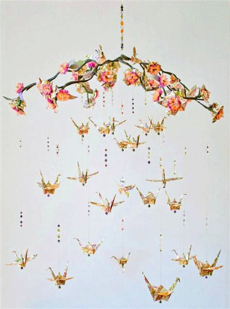 Origami Peace Cranes - origami crane mobile created by annmarie gallivan of