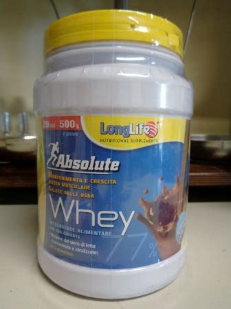 Absolute Whey longlife absolute whey cacao proteine su farmacia venezia