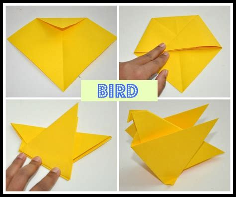 Easy Bird Origami - free coloring pages origami for play box
