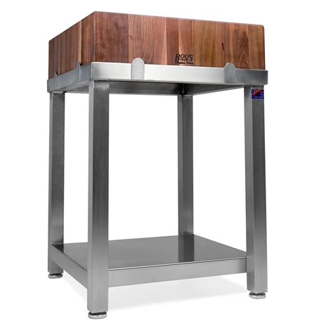 stainless steel butcher block table boos stainless steel base only butcher block tables