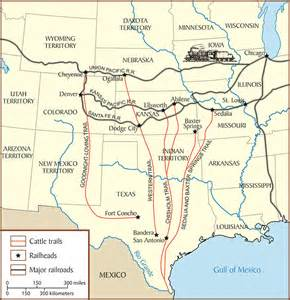 cattle trails map cattle drive map www pixshark images galleries