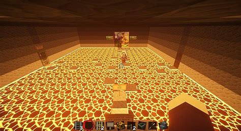 lava room challenge and puzzle map minecraft project