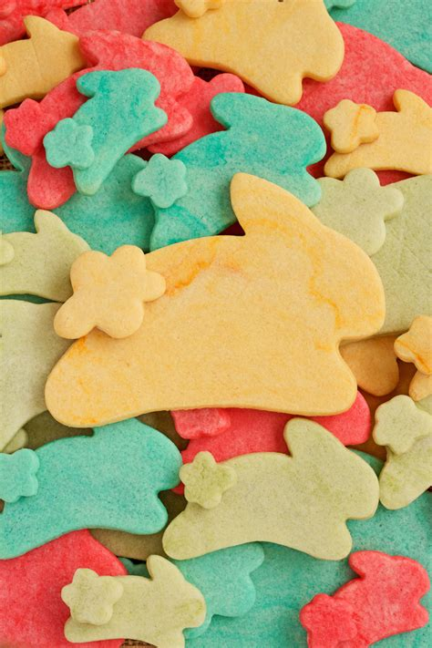 colored cookies colored cookie dough easter cookies the bearfoot baker