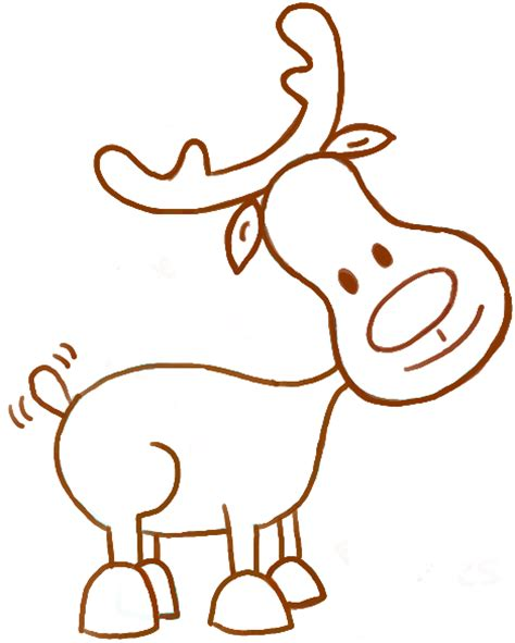 doodle draw reindeer how to draw a reindeer for how to