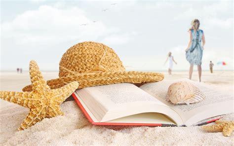 a seaside books 小清新唯美海滩风景图片壁纸 桌面天下 desktx com