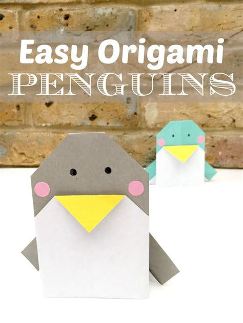 Easy Origami Penguin - easy origami penguin cards ted s