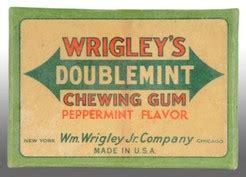 box gum wrigley s doublemint gum cardboard 20 gum packs