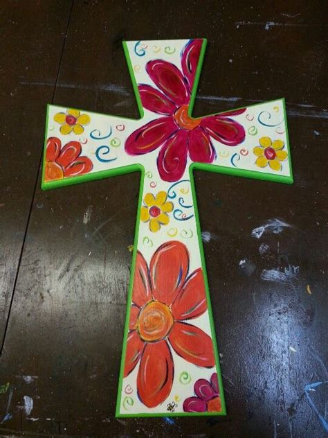 hand painted wooden cross wooden cross crafts painted