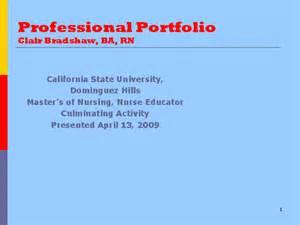 Nursing Professional Portfolio Template by Professional Portfolio Clair Bradshaw Ba Rn Docslide