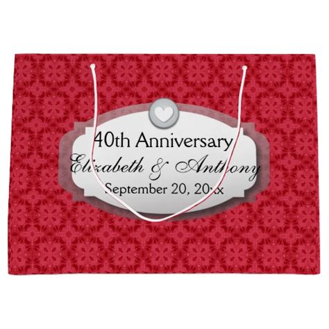 Wedding Anniversary Gift Bags by 40th Anniversary Wedding Anniversary Ruby Z06 Large