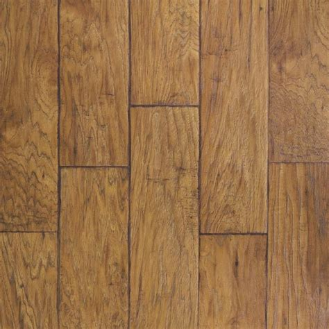 shop allen roth 6 14 in w x 4 52 ft l saddle hickory handscraped wood plank laminate flooring