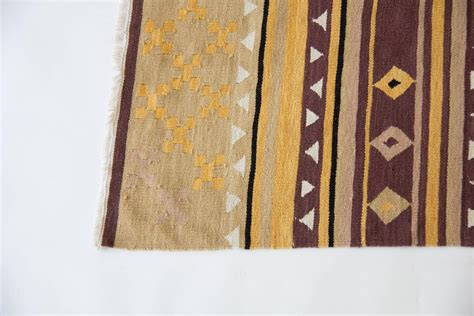 Dhurrie Runner Rugs Geometric Dhurrie Area Rug For Sale At 1stdibs
