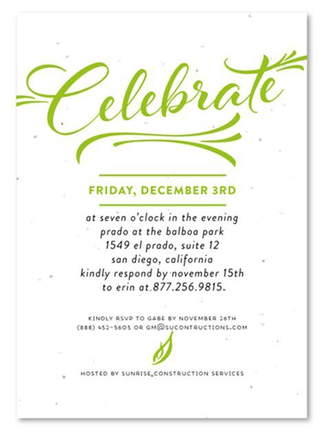 sle invitation card business event corporate event invitations modern script by green business print