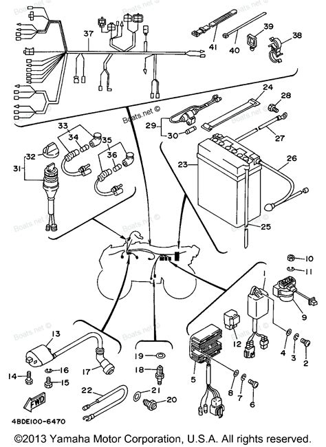 1996 timberwolf yfb250h yamaha atv electrical 1 diagram