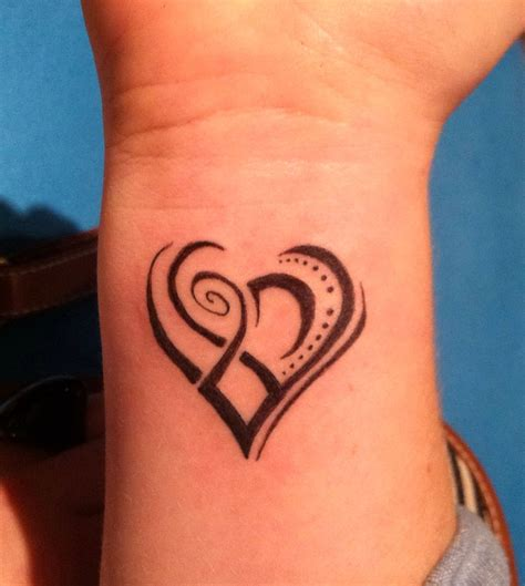 cute heart tattoo designs awesome tribal design ideas for