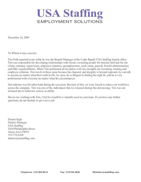 Letter Of Recommendation Integrity letter of recommendation