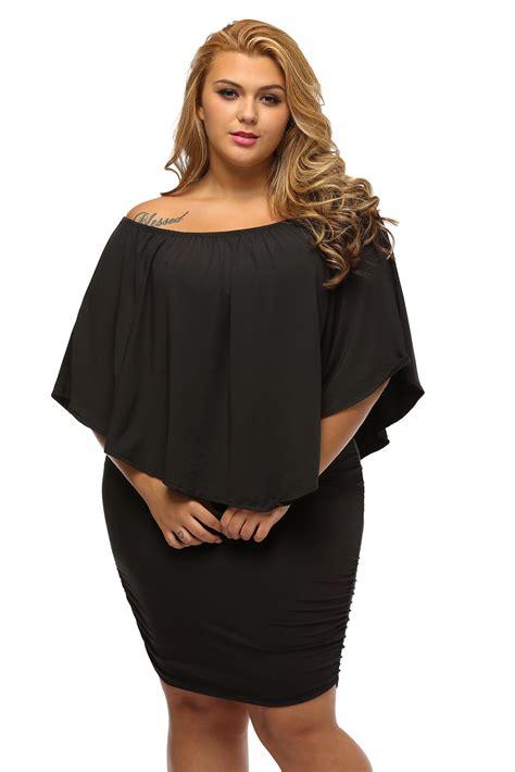 Mini Dres 087 us 7 36 plus size dressing layered black mini poncho dress dropshipping