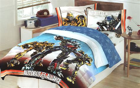 Transformers Autobot Battle Full Bed Comforter Optimus Transformers Bedding