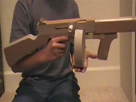 How To Make A Pistol Out Of Paper - cardboard paper gun thompson m1a1