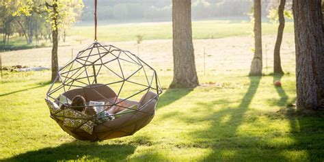 backyard inventors floating backyard couch swing kodama zome business insider