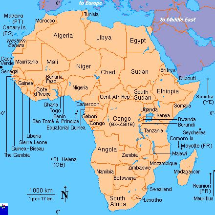 clickable map of africa