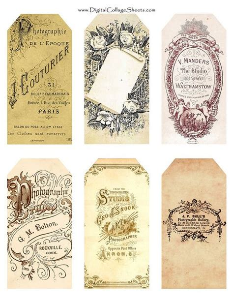 printable victorian tags 17 best images about diy victorian vintage free printables