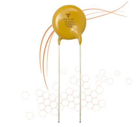 aec disc capacitor ay2 automotive capacitors aec q200 qualified farnell uk