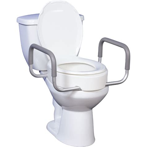 seat riser with removable arms use with standard toilets