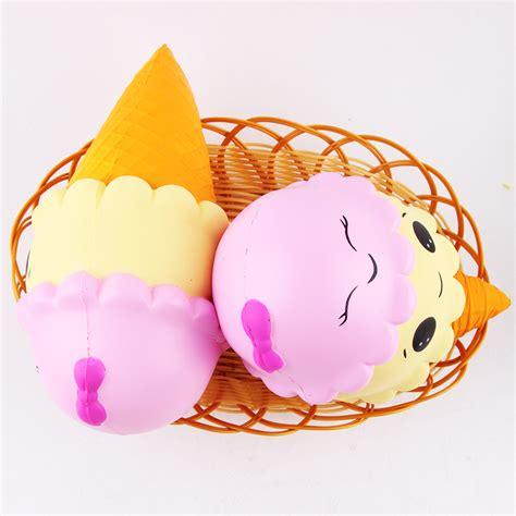 Squishy Donut Biru By Sanqi Elan sanqi elan squishy cone jumbo 22cm rising