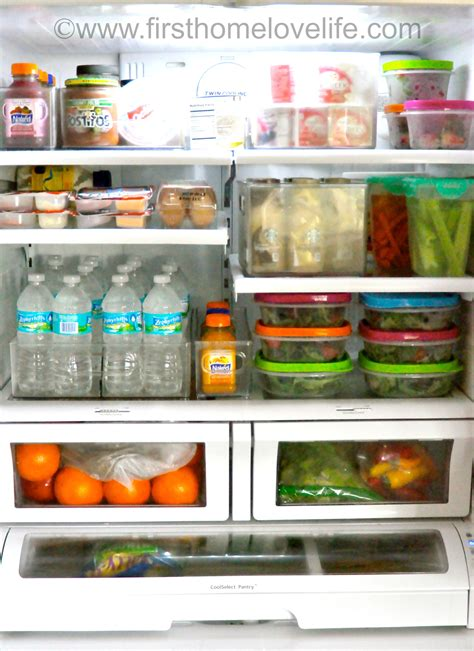 organise and organize my organized fridge first home love life