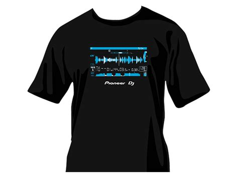 T Shirt Dj pioneer dj waveform t shirt guys premium t shirt made