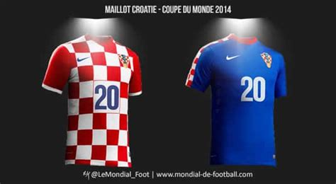 coupe du monde de football 2014 les maillots de la croatie pour la coupe du monde 2014