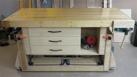 ultimate modern woodworking workbench youtube