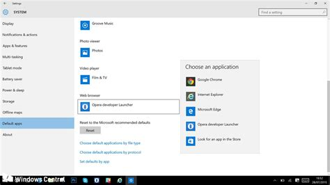 default setter how to change the default web browser in windows 10