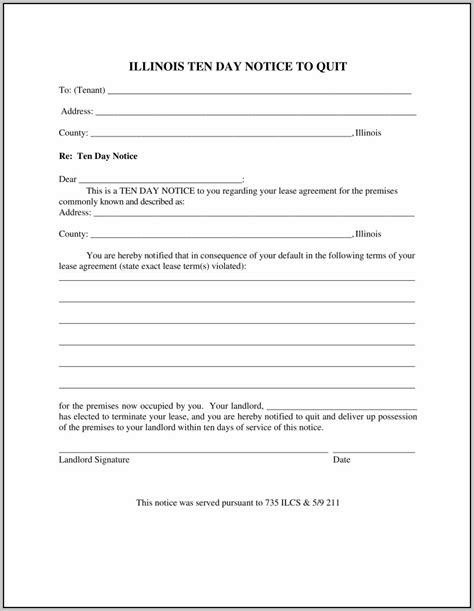 Eviction Notice Form Illinois Template Resume Exles Emwknlrkr0 Eviction Notice Hawaii Template