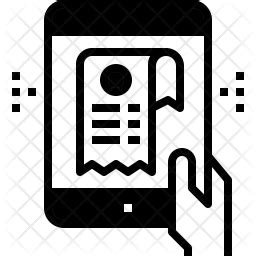 receipt icon  glyph style   svg png eps