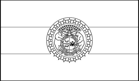 Missouri State Flag Missouri State Flag Coloring Page