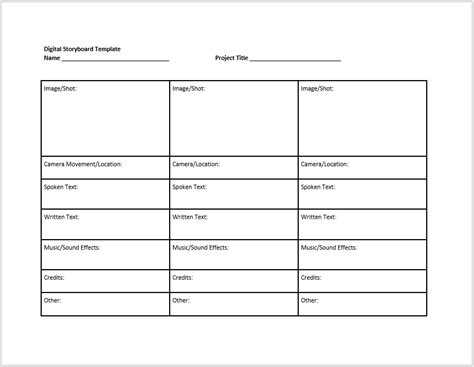 38 Free Storyboard Templates Ms Word Ms Powerpoint Templatehub Microsoft Word Storyboard Template