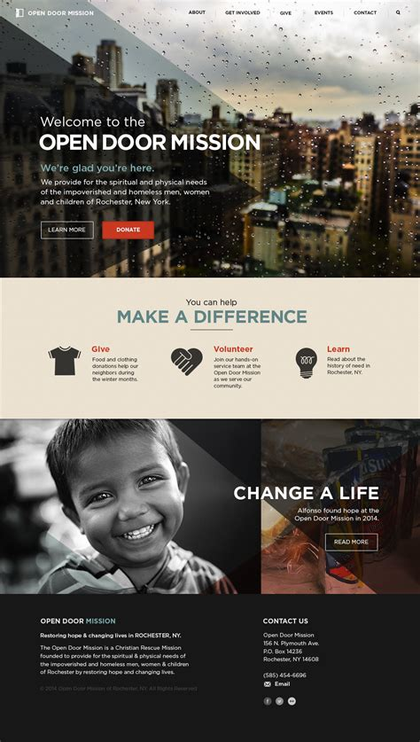 Open Door Mission Rochester Ny by Open Door Mission Redesign On Behance