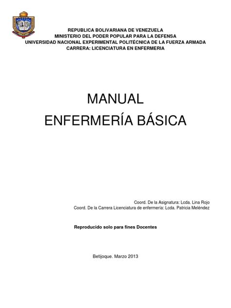manual de atencion a estudiantes con capacidades diferentes manual enfermeria basica