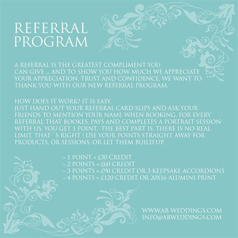photography referral card templates photography referral program ab wedding photography