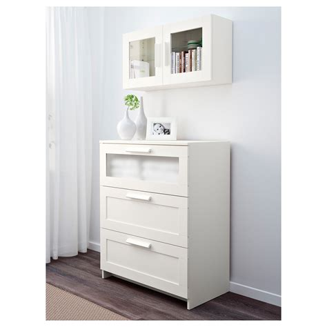 Ikea White Storage Cabinet Brimnes Wall Cabinet With Glass Door White 39x39 Cm Ikea