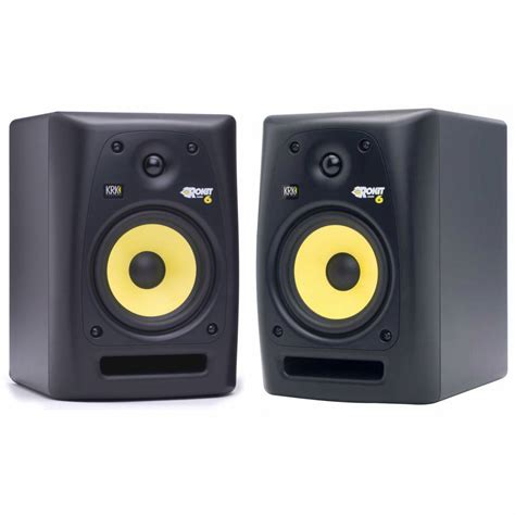 Monitor Sound krk rp6 g2 speakers isolation pad cables bundle