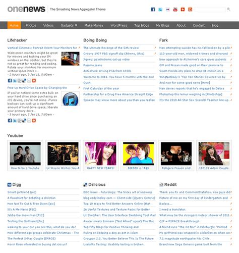 News Aggregator Template by How To Clone Popular With 31 Clone Themes