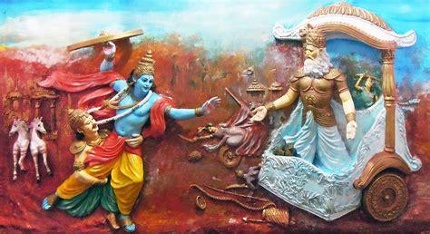 krishna attacks bhishma buy photographic print