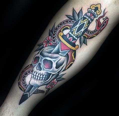 traditional tattoo designs for men the 25 best dagger ideas on