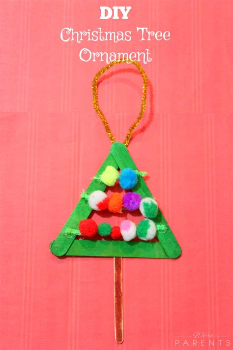 diy christmas tree ornament we re parents