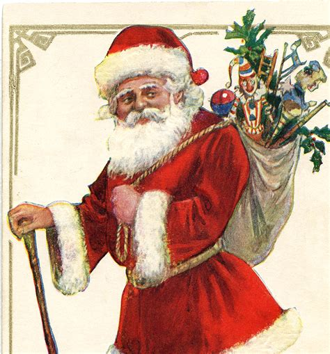 antique santa  cane image  graphics fairy