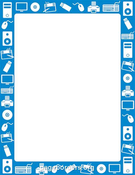 Computer Border: Clip Art, Page Border, and Vector Graphics